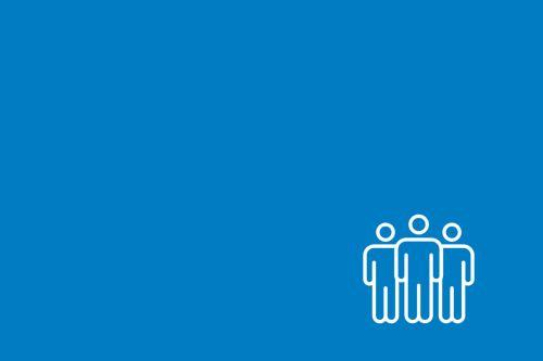Graficzny symbol trzech osób stojących w grupie.