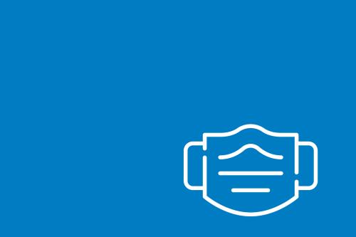 Graficzny symbol maseczki.