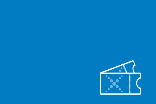 Graficzny symbol biletów z logo Centrum Nauki Experyment