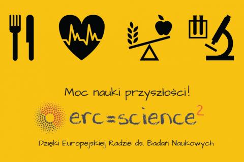 Plakat projektu ERC=Science² (Science Squared)