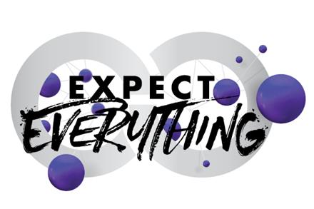Logo z napisem Expect Everything