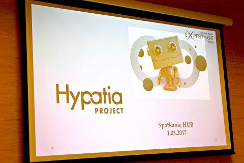 Slajd z napisem Hypatia Project