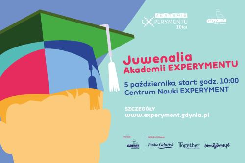 Plakat Juwenaliów Akademii EXPERYMENTU z października 2019