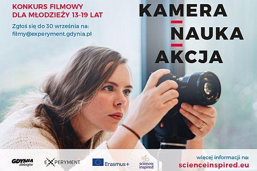 Plakat konkursu Kamera Nauka Akcja