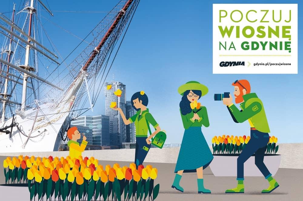 Grafika akcji Poczuj wiosnę na Gdynię.