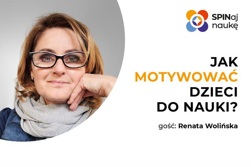 Na grafice widać zdjęcie prowadzącej webinar Renaty Wolińskiej