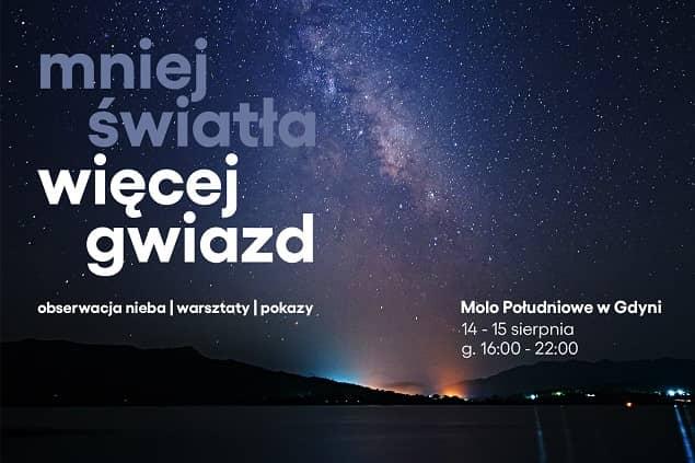 Plakat wydarzenia pod tytułem Mniej światła, więcej gwiazd